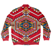 Geometric Pattern Bomber Jacket + FREE MATCHING MASK!