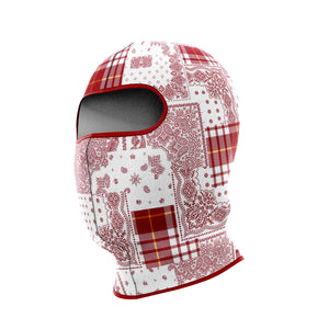 Red Bandana Pattern Bomber Jacket + FREE MATCHING MASK!
