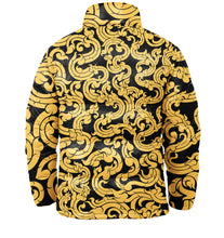 Load image into Gallery viewer, Gold Pattern Puffer Jacket