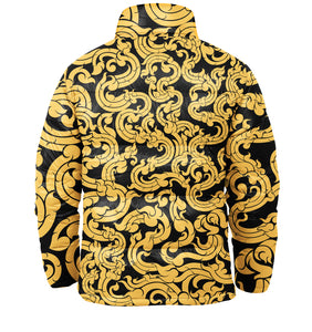 Gold Pattern Puffer Jacket