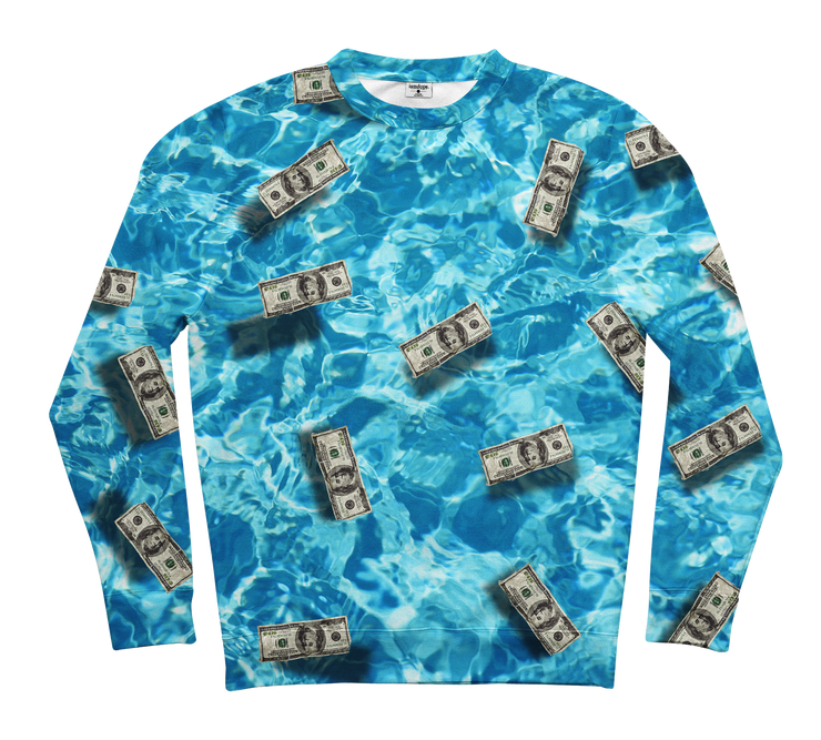 Floating Dollars Sweater