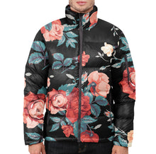 Seamless Floral  Puffer Jacket