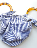 Anouk Gania Furoshiki Bag Blue Stripe