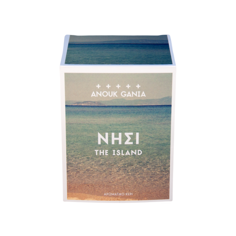 The Island Anouk Gania scented candle. Perfumed candle hand made in Australia