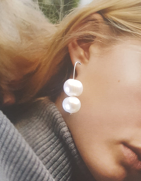 Anouk Gania Pearl Deux Earrings