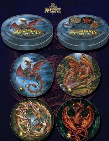 Tin of Dragon Coasters