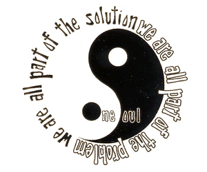Problem / Solution Mini Yin Yang Sticker