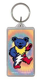 Tie-Dye Lightening Bear Keychain