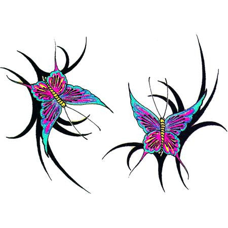 Tribal Butterfly Temporary Tattoos
