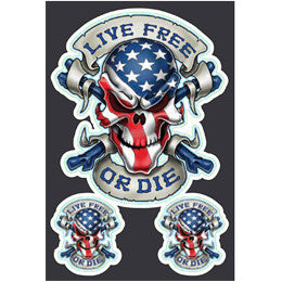 Live Free or Die USA Stickers