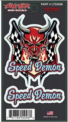 Devil Speed Demon Stickers- Mini