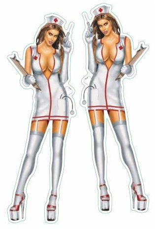 Naughty Nurse Pin-up Sexy Stickers