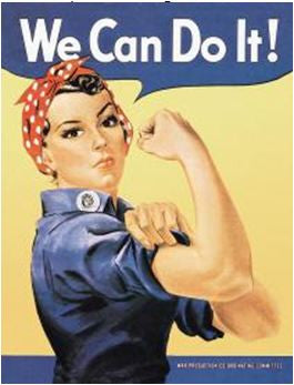 We Can Do It! Rosie the Riveter Tin Sign