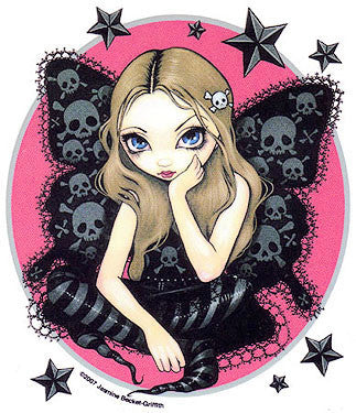 Stars Skull Butterfly Goth Fairy Sticker