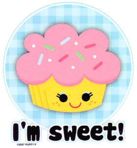 I M Sweet Cupcake Sticker