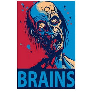 Brains! Zombie Car Magnet
