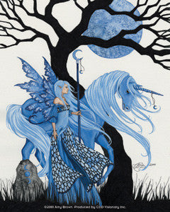 Winter Solstice Fairy and Unicorn Sticker