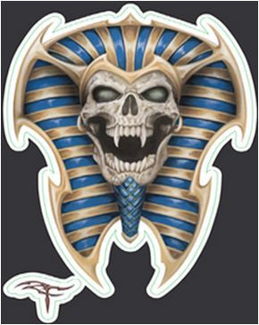 Mini Egyptian King Tut Skull Sticker