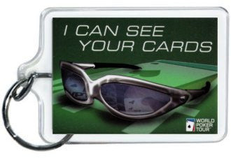 I can see your cards Poker Keychain