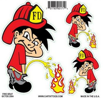 Bad Boy Firefighter Brat Stickers