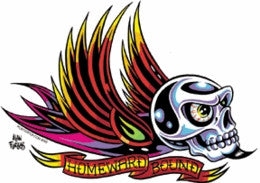 Gear Head Biker Homeward Bound Skull Sticker