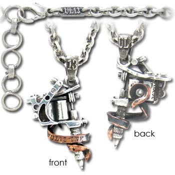 Tattoo Necklace Tattoo Gun Pendant