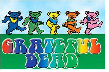 Rainbow Dancing Bears Grateful Dead Magnet