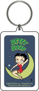 Blue Night Moon Betty Boop Keychain