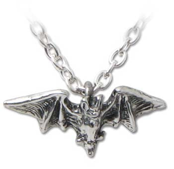 Kiss of Night Pewter Vampire Necklace
