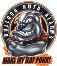 Tuff Punk Bulldog Gag Gift Car Alarm Stickers Set