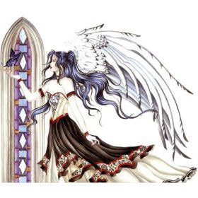 Stained Glass Butterfly Angel Sticker