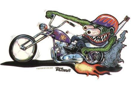 Monster Biker Sticker