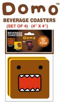 Domo-Kun Drink Coasters Set 4 Pack