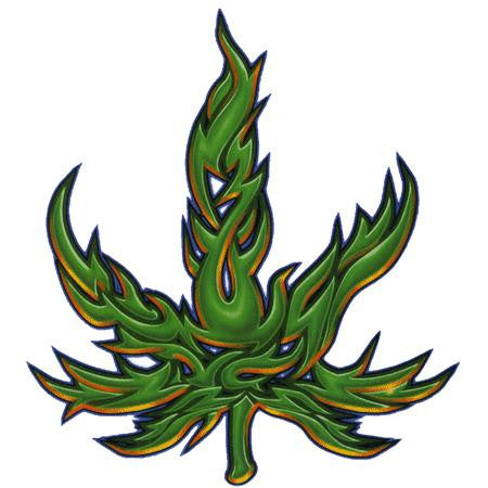 Righteous Tribal Pot Leaf Sticker
