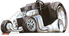 Bucket Hot Rod Sticker