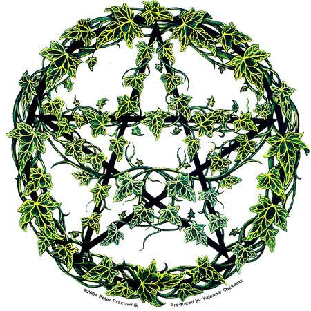Spiritual Ivy Pentagram Sticker