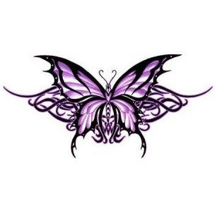 Tribal Purple Butterfly Sticker