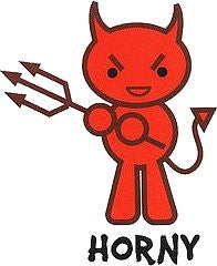 Horny Devil Sticker