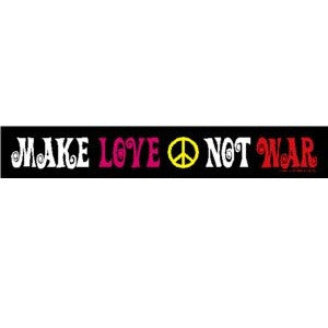Make Love Not War Bumper Sticker Mini