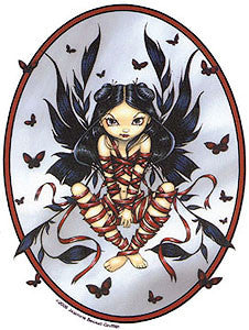 Gothic Dark Ribbon Fairy Sticker