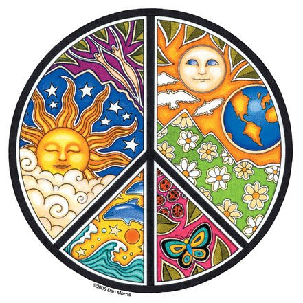 Night / Day Peace Sticker