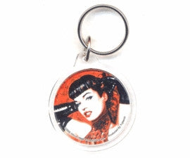 Sexy Gloves Bettie Page Pin-up Girl Keychain