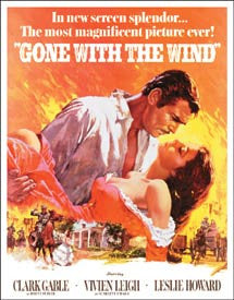 Gone With The Wind Novelty Tin Sign