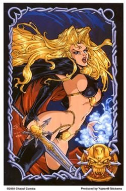 Lady Death Warrior Sticker
