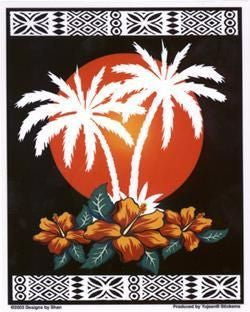 Palms Paradise Tiki Hut View Sticker
