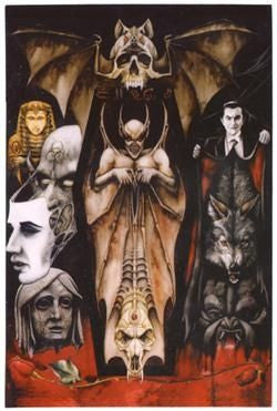 Fenangglan Monsters Horror Gothic Art Postcard Sticker