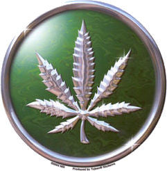 Chrome Leaf Sticker