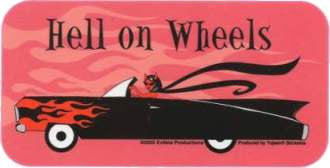Hell on Wheels Caddy Sticker