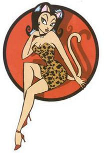 Leopard Print Pin-up Sticker