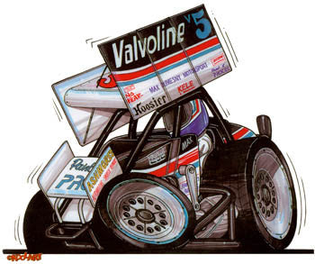 Valvoline No Fear Sprint Car Sticker